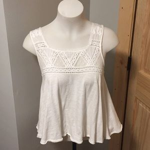 Free people open back lace tank top size xs